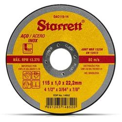 Disco De Corte Abrasivo 115mm x 1,0mm x 22,2mm - S... - Casa Anzai