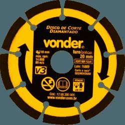 Disco Diamantado 110mm V3 Importado – Vonder - Casa Anzai