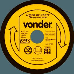 Disco Diamantado Para Porcelanato 110mm - Vonder - Casa Anzai