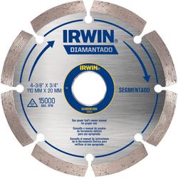 Disco Diamantado Segmentado 110mm x 20mm - Irwin - Casa Anzai