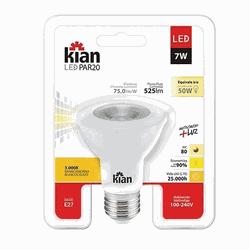 LAMPADA LED PAR 20 7W (Luz Branca Morna) - Casa Anzai