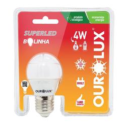 Lâmpada OUROLUX SuperLED Bolinha 4W (Luz Branca Fr... - Casa Anzai
