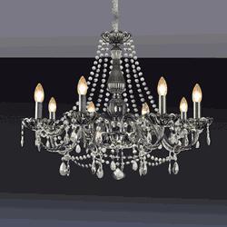 Lustre Clássico de 8 Luzes com pingentes em crista... - Casa Anzai