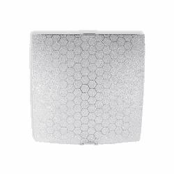 Plafon Colméia E27 (30x30cm) - Casa Anzai