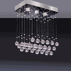 Plafon Crystal Ball led (Lâmp. 3x5w) - Casa Anzai