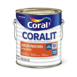 Coralit Zarcão Proferro Zarcoral 3,6 L - Casa Costa Tintas