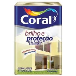 Tinta Acrílica Brilho e Proteção Semi Brilho Coral... - Casa Costa Tintas