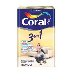 Tinta Acrilica Fosco 3 em 1 Coral 18L - Casa Costa Tintas