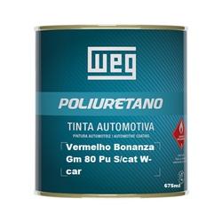 Vermelho Bonanza Gm 80 Pu S/cat W-car 675ml Weg - Casa Costa Tintas