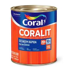 Coralit Secagem Rápida Acetinado Branco 900ML - Co... - Casa Costa Tintas
