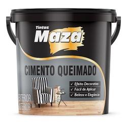 Cimento Queimado Maza cor Cinza Balde 25kg - Casa Costa Tintas