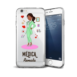 CAPA FLEXIVEL PERSONALIZADA COM NOME MEDICA NEGRA ... - Cellway