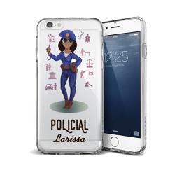 CAPA FLEXIVEL PERSONALIZADA COM NOME POLICIAL NEGR... - Cellway