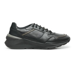 Tênis Sneaker Havai em Couro - 10911A Preto - Centuria Calçados