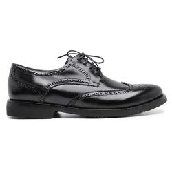 Sapato Brogue Tamanho Especial em Couro - 3095E Pr... - Centuria Calçados