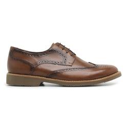Sapato Brogue Tamanho Especial em Couro - 3095E Wh... - Centuria Calçados