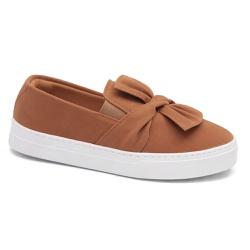 Tênis slip on Laço caramelo - Charlotte Shoes