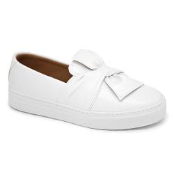 Tênis Slip on Laço Branco - Charlotte Shoes
