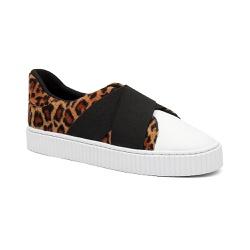 Tênis de Elástico Animal Print - Charlotte Shoes