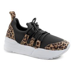 Tênis Casual Charlotte Preto Animal Print - Charlotte Shoes