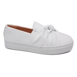 Tênis Slip on Branco - Charlotte Shoes
