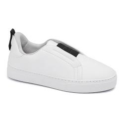 Tênis Slip On Elástico Branco - Charlotte Shoes