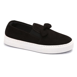 Tênis Slip On Nó Preto - Charlotte Shoes