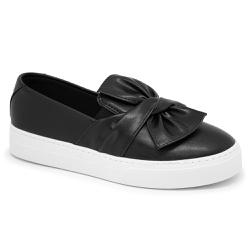 Tênis slip on Laço Preto - Charlotte Shoes