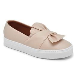 Tênis Slip On Laço Creme - Charlotte Shoes