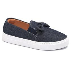 Tênis Slip On Nó Jeans - Charlotte Shoes