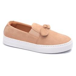 Tênis Slip On Nó Creme - Charlotte Shoes