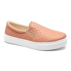 Tênis slip On Matelasse Caramelo - Charlotte Shoes