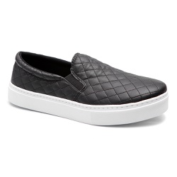 Tênis slip on Matelasse Preto - Charlotte Shoes