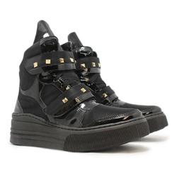Tênis Sneaker Crossfit Preto Com Verniz Preto - CHEIA DE MARRA