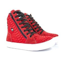 Tênis Sneaker Fitness Feminino Vermelho Cobra - CHEIA DE MARRA