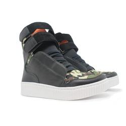 Tênis Sneaker Fitness Feminino Preto e Camuflado - CHEIA DE MARRA