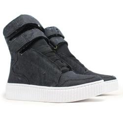 Tênis Sneaker Jeans Destroyed Preto - CHEIA DE MARRA