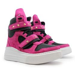 Tênis Sneaker Crossfit Rosa Pink com Preto - CHEIA DE MARRA
