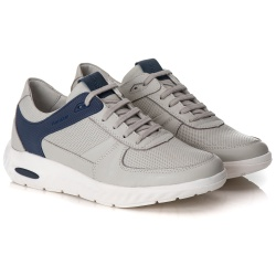 Tênis Sneaker Gel Masculino Gelo/Azul Comfort - 9... - Ranster Confort