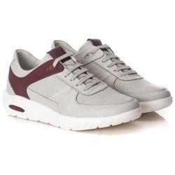 Tênis Sneaker Gel Masculino Gelo/Bordô Comfort - ... - Ranster Confort