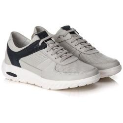 Tênis Sneaker Gel Masculino Gelo/Preto Comfort - ... - Ranster Confort