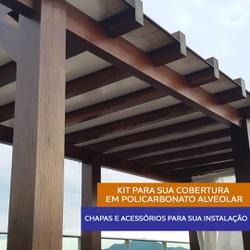 Kit 9 Chapas De Policarbonato 105 x 600 x 6 Mm e Acessórios Para Insta... - COBERCHAPAS
