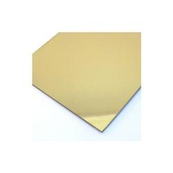 Acrílico Cast ( Virgem ) Espelhado Dourado 2mmx2,00x1,00 - COBERCHAPAS