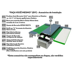 Kit Personalizado De 3 Chapas De Policarbonato 1,05x3x4 Mm e Acessório... - COBERCHAPAS