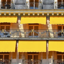 Toldo Cortina 2,50m x 2,75m - Amarelo - COBERCHAPAS