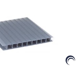 Kit 3 Chapas De Policarbonato Alveolar Ideal Para Sua Cobertura 1,05x6... - COBERCHAPAS