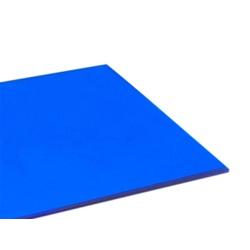 Chapa De Policarbonato Compacto 2,00x3,00x3mm Azul - COBERCHAPAS