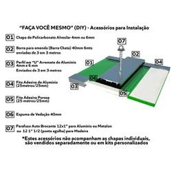 Kit 1 Chapas De Policarbonato Alveolar 2,10x6,00 6 Milímetros e Acessó... - COBERCHAPAS