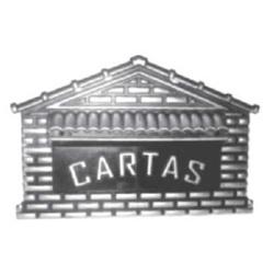 Caixa De Correio Universal Prata Nº4 20cmX10cmX14c... - Sertãozinho Construlider