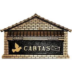 Caixa De Correio P/Muro Ouro Nº8 38cmX17cmX20cm - ... - Sertãozinho Construlider